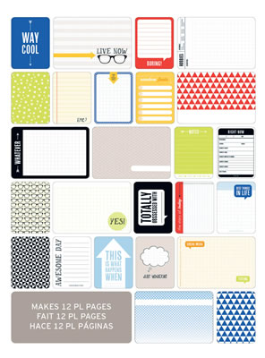 Becky Higgins - Project Life - Themed Cards 60/pk - Teen Boy  (sold in 3's)