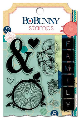 Bo Bunny Press - Family Is - Clear Stamp  (sold in 3's)
