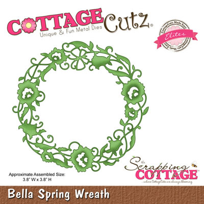 CottageCutz - Bella Spring Wreath - Elites  (sold individually)