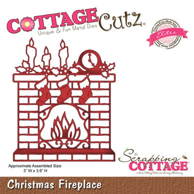 CottageCutz - Christmas Fireplace - Elites  (sold individually)