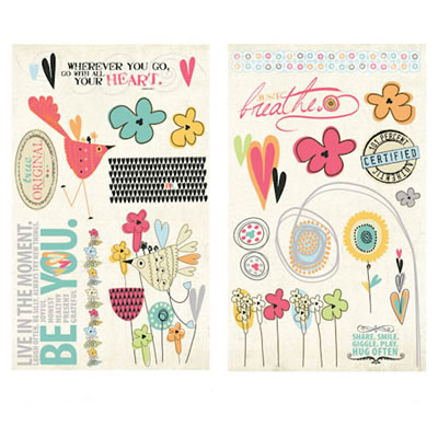 Fancy Pants Designs - Be You - Chipboard Pieces  (sold in 3's)