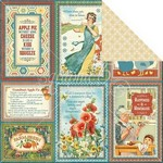 Graphic 45 Home Sweet Home Collection - 12in x 12in Single Sheet - Apple Pie