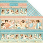 Graphic 45 Precious Memories Collection - 12in x 12in Single Sheet - Cuddle Time
