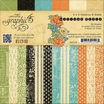 Graphic 45 Artisan Style Set Collection - Artisan Style 6x6 Patterns & Solids