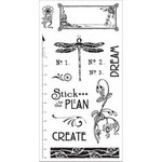 Graphic 45 Artisan Style Set Collection - Cling Stamp G45 Artisan Style 2